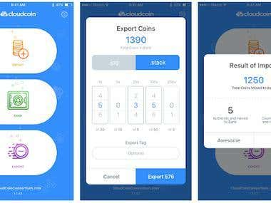 Cryptocurrency Payement Mobile app.