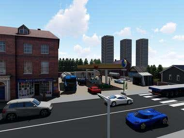 Petrol Station rendering