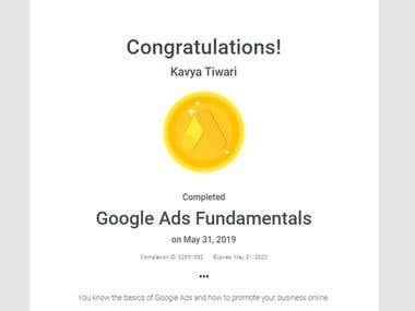 Google Ads Fundamentals Certification