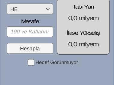 TAD(Tank Atış Destek) Mobil App