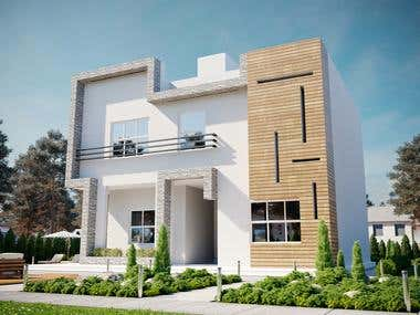 Exterior house rendering