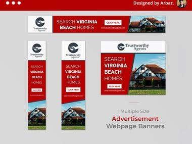 Multiple size Banner Designs