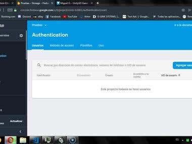 Unity FireBase Authentication + Edit Profile