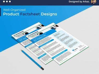 Product Fact Sheet Design