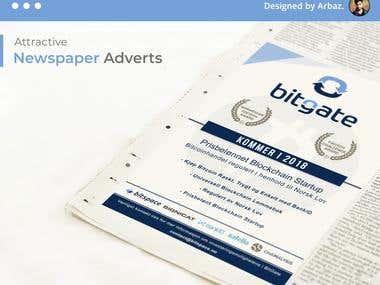 Newspaper Advertisement Design