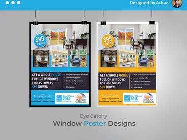 Window Poster Design