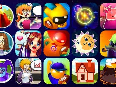 Game apps icons