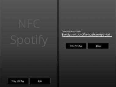 NFC Spotify App