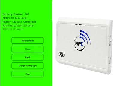 Attendance app using ACR1311U-N2 Bluetooth NFC Reader