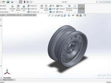 Solid works Car rim design