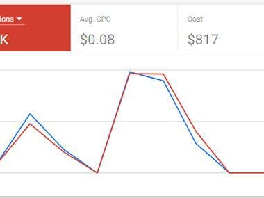 Google Ads - examples low rate Avg. CPC