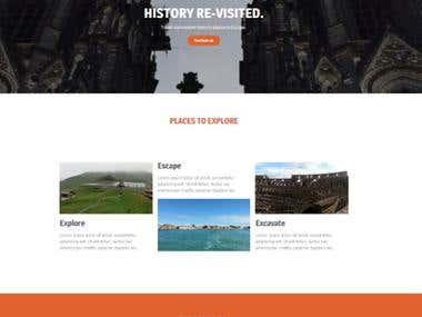 Wordpress - Single Page Website Sample #1