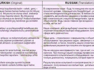 Translator (Russian-English-Turkish)