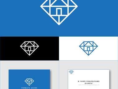 permata agung logo and business card design