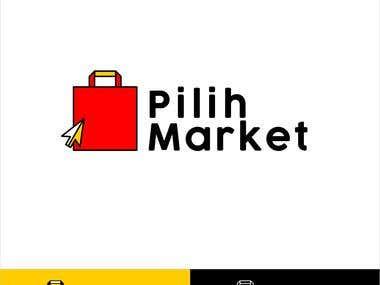pilihmarket logo design