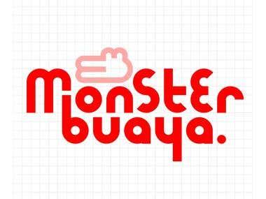 monsterbuaya logo design