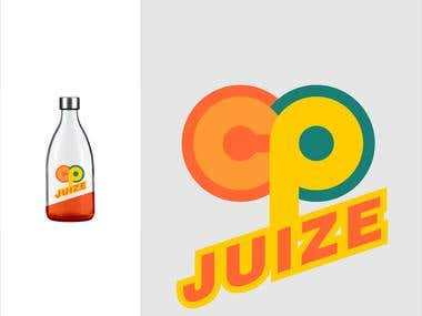 cp-juize logo design