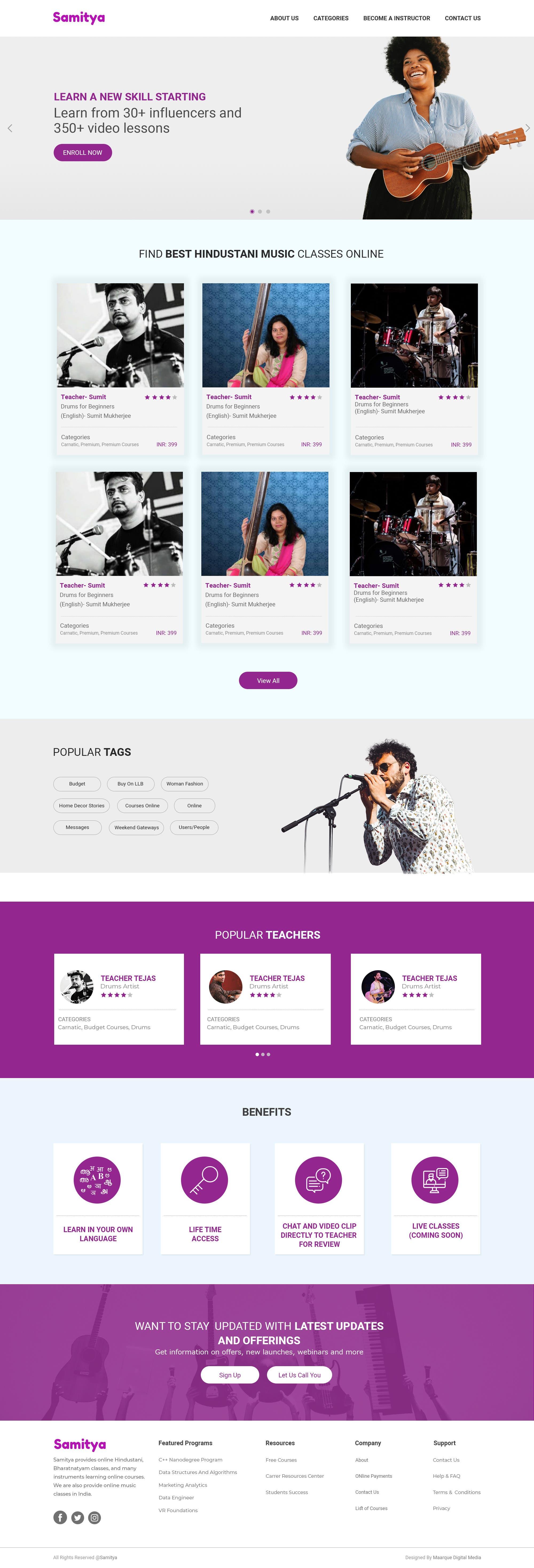 Online Courses Web UI