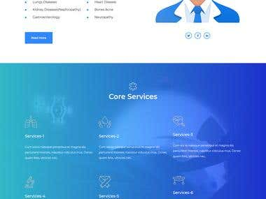 Doctor personal website with appointment system