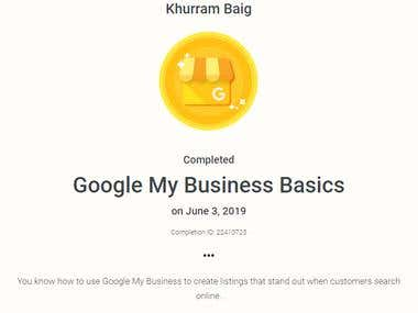 Google My Business Certification