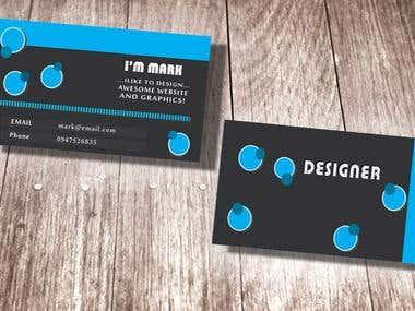designer bussiness card