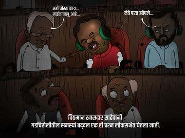Cartoon for election campaign