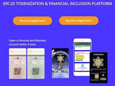 Blockchain Based on ERC20 Tokenization & Financial Inclusion