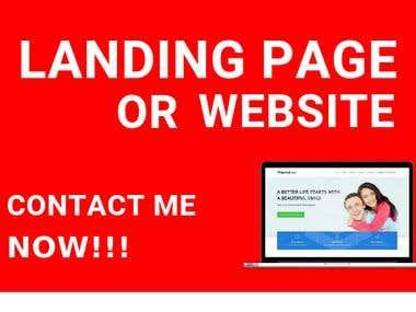 WordPress Landing Page or Website