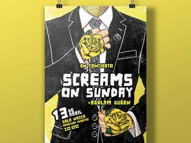 Screams On Sunday Poster