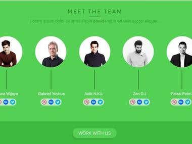 Website-Team Section