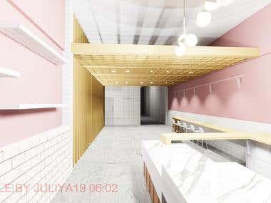 Interior design- Patisserie