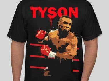 Mike Tyson Concept T-Shirt Design for a client.