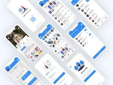 App UI Lostagram