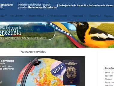 WORDPRESS MULTISITE EMBASSY AND CONSULATES OF VENEZUELA