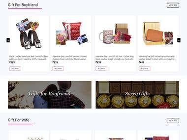 E-Commerce Gifts Web Site