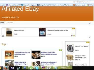 build an ebay partner network site