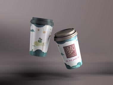 Cup Design for Fantasia Tea Cafe