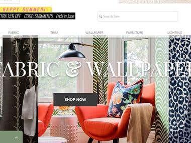 Interior Design Concept Website