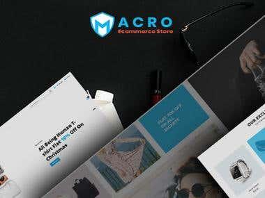 Macro - Ecommerce Multistore Shopify Template