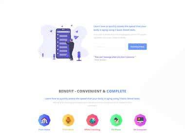 A website design for a concierge doctor