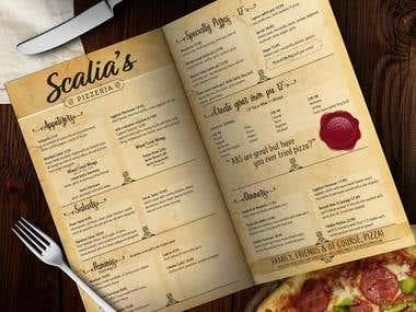 Salia's Menu Design