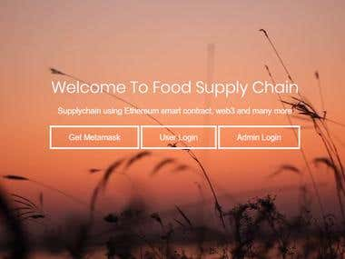 ETHEREUM BASED FOOD SUPPLY CHAIN