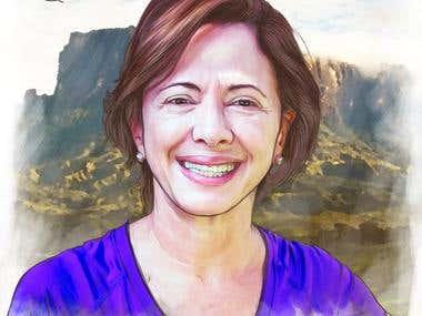 Digital Illustration for Valentina Quintero