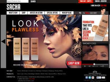 PrestaShop eCommerce website for Cosmetic products