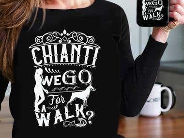 Cat & Dog T-Shirt design ( Vintage Style )
