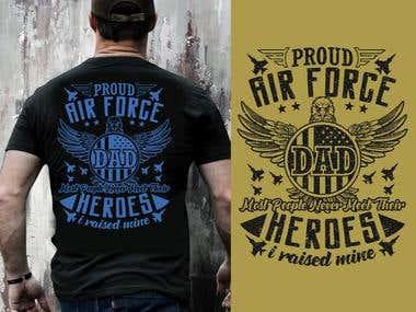 AIR FORCE T-Shirt Design