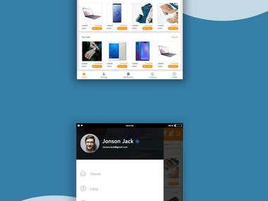 UI for mobile application