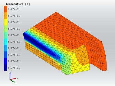 3D thermal analysis of switched reluctance motor