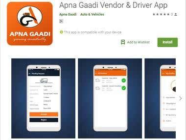 Apna Gaadi Vendor & Driver App