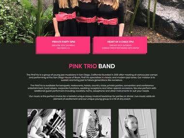 Female Jazz Band Website